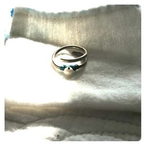 Jewelry - Greek Silver & Pearl Ring